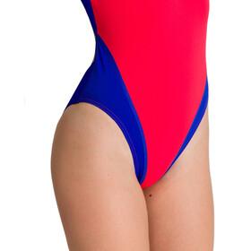 arena Solid Swim Tech High Jednoczęściowy strój kąpielowy Kobiety, czerwony/niebieski